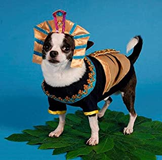 Puppe Love King MUTT Dog Costumes King TUT Egyptian Royalty Pharaoh Dogs Halloween Wear (Size 6)