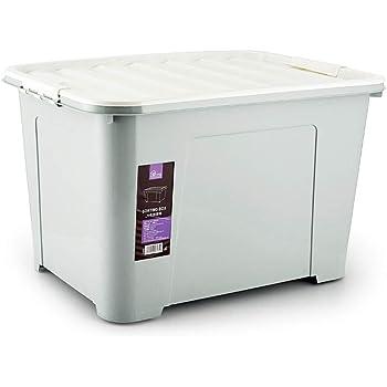xy Cajas almacenaje plastico Grandes de Almacenamiento de 100 litros, Respetuoso del Medio Ambiente Caja de plástico, Caja de almacenaje de la Rueda ((100L) Azul) Cajas almacenaje (Color : Gray): Amazon.es: Hogar
