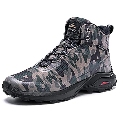 Dannto Botas de Senderismo para Hombre, Zapatillas Altas de Trekking Zapatos de Montaña Escalada Aire Libre Calzado Ligero Antideslizantes Sneakers