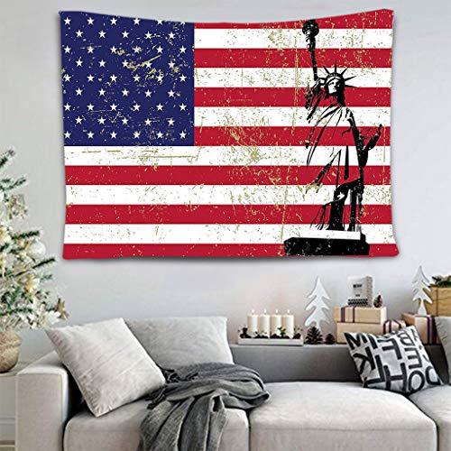 jieGorge Heimtextilien Räumungsverkauf,Amerikanische Flagge Baseball Tapisserie Fotografie Hintergrund Wanddekoration,Tunika-Wandteppich für Wohnzimmer Dekoration