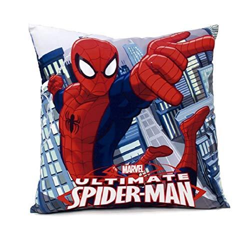 Theonoi Housse de coussin pour enfant - Imprimé des deux côtés sans rembourrage - Au choix : Spiderman Batman Star Wars Avengers - 40 x 40 cm (Spiderman A1)