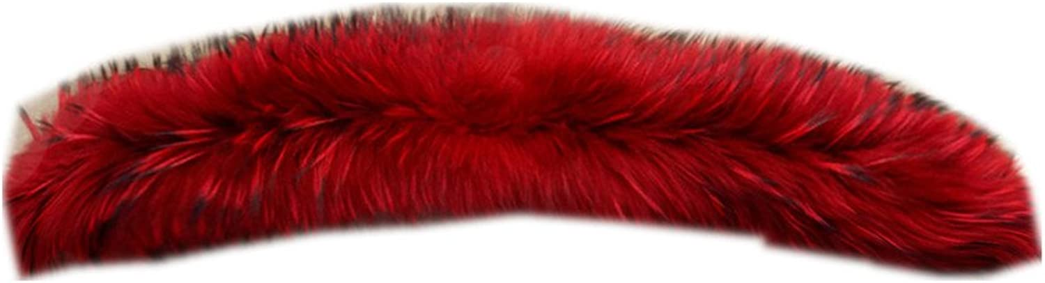 Gegefur Large Long Detachable Natural Raccoon Fur Collar for Winter