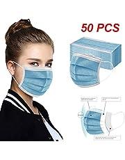 COSEE 50Piezas Adulto Protección 3 Capas Transpirables con Elástico para Los Oídos -COSEE831