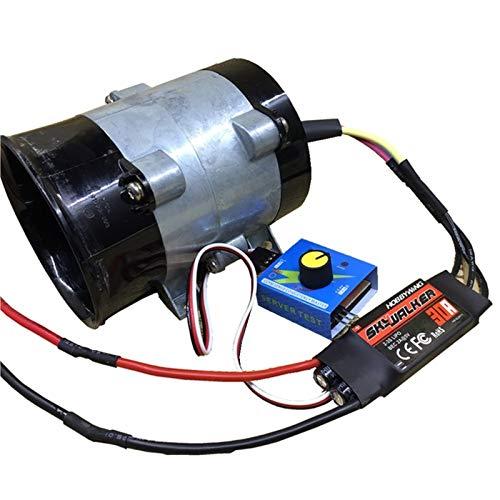 Xuulan Xianglaa-Motor de Corriente Continua Cuchillas de Ventilador Turbo de Alta Velocidad, Motor de DC sin escobillas trifásico con conducto metálico, Amplia Gama de Aplicaciones