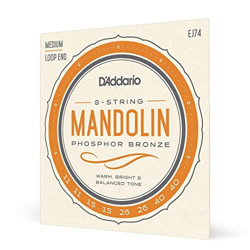 D'Addario Saiten für Mandoline | INDUSTRY STANDARD MADE IN USA | EJ74 | Phosphor Bronze | Medium (11-40)
