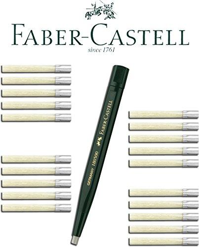 Faber-Castell Drehstift mit Glasradierer (1 Stift + 20 Ersatzminen)