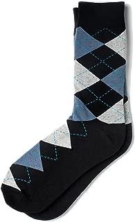 Men's Westminster Classic Argyle Novelty Preppy Crew Dress Socks