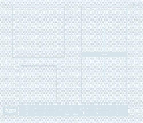 Piano cottura ad induzione da 60 cm, N° 4 Fuochi, colore Bianco