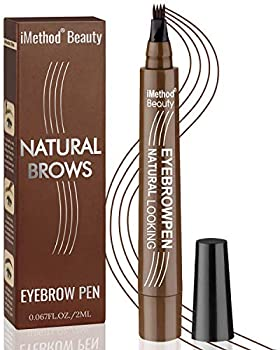 iMethod Eyebrow Pen - Upgrade Eyebrow TattooPen Eyebrow Makeup Long Lasting Waterproof and Smudge-proof Dark Brown