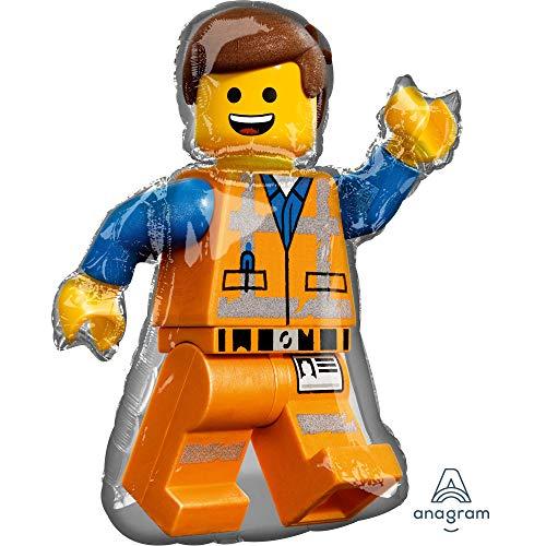 Amscan 3904201 Folienballon Lego Movie 2, Mehrfarbig