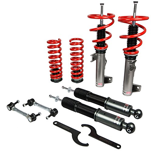 Godspeed MRS1870-A MonoRS Coilovers Suspension Lowering Kit, 32 Clicks Damping Settings, Fully Adjustable, Improve Overall Handling