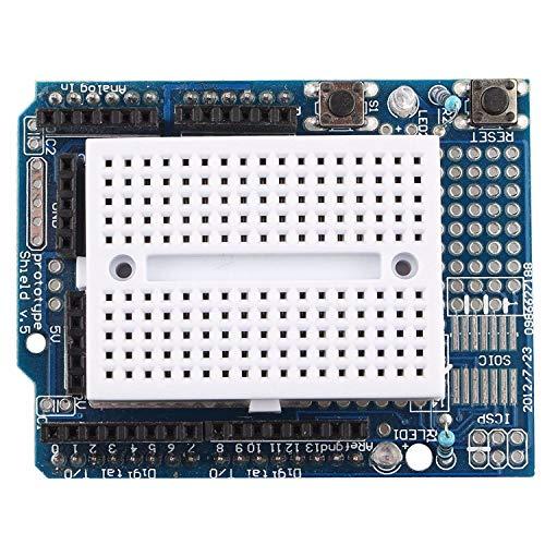 HAPPY-DZ praktische ProtoShield Prototyp Erweiterungsplatine mit Mini Expansion Brot für Arduino UNO MAGA Nano durch Roboter