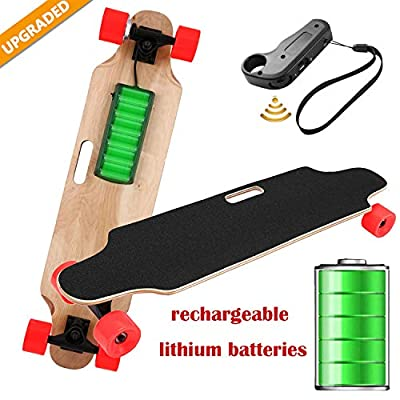"""35.4"""" Electric Skateboard Electronic Longboard 20 KM/H Top Speed, 250W Motor?7 Layers Maple E Skateboard with Wireless Remote Control Electirc Board for Adult Kids teens?220lbs Weight Capacity"""