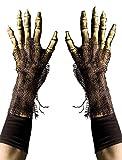 Survivor Skeleton Grim Reaper Gloves, Rotting Zombie Bone Hands by Zagone Studios
