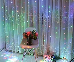 Honche 304L Fairy Led Curtain Lights String for Bedroom Wedding (304L Multi Color Plug)