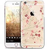 JAWSEU Kompatibel mit iPhone 8 Hülle,iPhone 7 Hülle Silikon TPU Transparent Hülle Crystal Clear Handyhülle Blumen Schmetterling Muster Durchsichtig Silikon hülle TPU Bumper Tasche Case Cover Etui #14