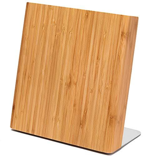 Latalis - Ceppo magnetico portacoltelli in legno di bambù, senza coltelli, perfetto per una cucina ordinata e strutturata
