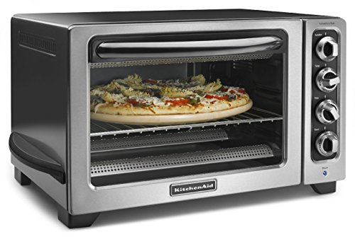 "KitchenAid KCO234C Horno de Mesa, 12"", color acero inoxidable"