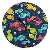 SENNSEE - Reloj de pared con diseño de peces marinos, multicolor