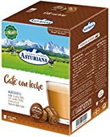 Central Lechera Asturiana Cápsulas de Café con Leche - Compatibles con Dolce Gusto - 4 Paquetes de 16 Cápsulas - Total:...
