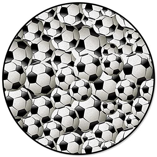 Balones de fútbol Alfombras Redondas de fútbol para Sala de Estar Áreas de hogar Alfombra Alfombra de Piso de Dormitorio Decoración del hogar