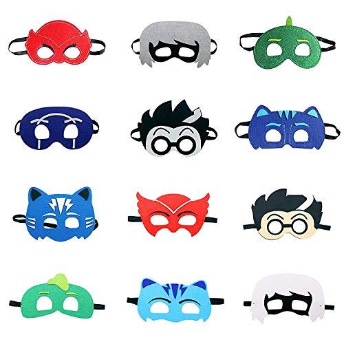 LAOZHOU PJ Cartoon Heroes Felt Masks 12 pz Rifornimenti del Partito Maschera di Carattere Cosplay Bomboniere per Bambini Ragazzi o Ragazze