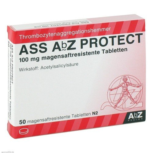 ASS AbZ protect 100 mg Tabletten, 50 St. Tabletten