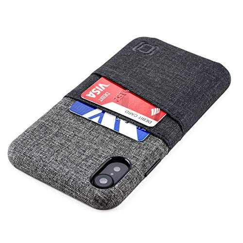 PARA IPHONE XR: la piel sintética Premium con diseño de tela le da una elegante apariencia profesional, y la textura UltraGrip con estilo de sarga te dará una sensación de seguridad en tus manos. Con solo 14mm de grosor, es una de las fundas cartera ...