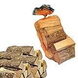 Sacco 15 kg di legna da ardere 100% faggio in tronchetti per camino stufa 33 cm