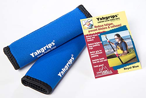 Yakgrips Takeapart Kayak Paddle Grips, No-Slip, Prevents Blisters (Blue) - Cascade Creek