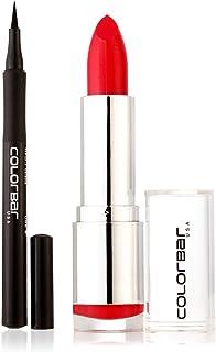 Colorbar Ultimate Eye Liner, Black, 1ml + Colorbar Velvet Matte Lipstick, Hot Hot Hot, 4.2g