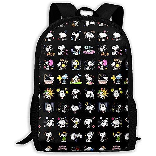 Casual Rucksack- Stylish Cute Sn-oo-pys Print Zipper School Bag Travel Shoulder Bags Rucksack