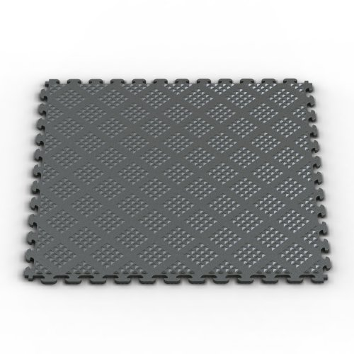 Norsk NSMPRD6MG Raised Diamond Multi-Purpose PVC Flooring, Metallic Graphite, 6-Pack