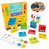 Expression Puzzle Building Cubes,Geometric Cube Face Juguete De Madera,Cubos de Cambio de Cara de Juguete,Montessori Juguetes EducativosCaja De Rompecabezas De Madera Que Cambia La Cara
