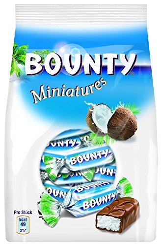 BOUNTY Miniatures - Mini Barres chocolatées au lait et à la noix de coco -Paquets de 130g (Lot de 7)