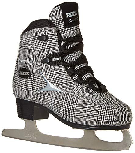 Roces 450557 Women's Model Brits Ice Skate, US 9, White/Silver