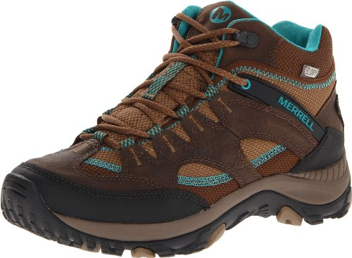 Merrell Women's Salida Mid Waterproof Hiking Boot,Brindle,5 M US