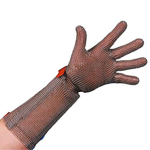 Stahlnetz Stechschutzhandschuh PROTEC 8 cm Stulpe, EN 1062, Größe M