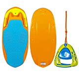 ZUP YouGo Board and 2.0 Handle Combo, All-in-One Kneeboard, Wakeboard, Wakeskate, and Wakesurf Board for All Ages, Orange