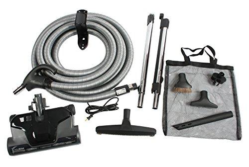 Cen-Tec Systems Central Vacuum Electric Powerhead Kit, Pigtail Hose, Black