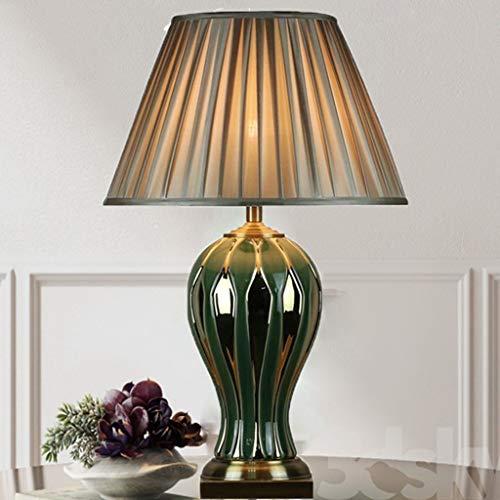 Z-D Tafellamp/bureaulamp van koper van Amerikaans keramiek - New Chinees goud groen persoonlijkheid model slaapkamer woonkamer bedlampje dubbele voet