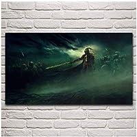 キャンバス絵画の装飾兵士名誉中世の戦い軍ファンタジーリビングルームアート家の装飾的な壁キャンバスプリントアートポスター-60x80cm1pcsフレームなし
