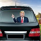 車のリアウインドワイパーステッカー米国大統領選挙防水3Dステッカートランプデカールリムーバブルパーソナリティ車のステッカー車のデコレーション
