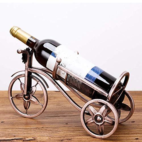 CAIJINJIN estante del vino Vino Europea Estilo Personalidad rack gabinete del vino estante del vino Botella de vino de hierro forjado del vino del estante del vino del soporte de exhibición de arte Mo