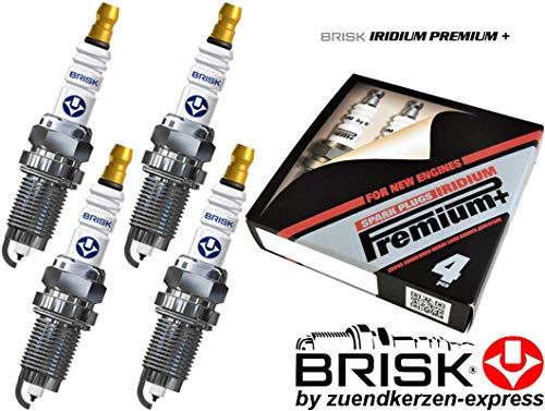 Preisvergleich Produktbild Brisk Iridium Premium+ Plus P37 RR17BYIR-9 1990 Zündkerzen,  4 Stück