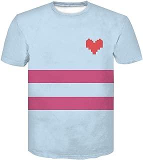 Unisex Adults Heart Skull Cosplay Costume Tee T Shirt