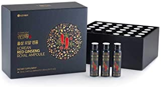 LG H&H re:tune Gold Vision Korean Red Ginseng Royal Ampoule I 100% Korean Red Ginseng Extract, Portable Ampoules, Healthy ...