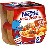 Nestlé Bébé P'tite Recette Mijoté de Carottes Bœuf Plat complet dès 12 Mois