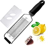 Cheese Grater — Cheese Lemon, Ginger, Garlic, Nutmeg, Chocolate, Vegetables, Fruits - Razor-Sharp...