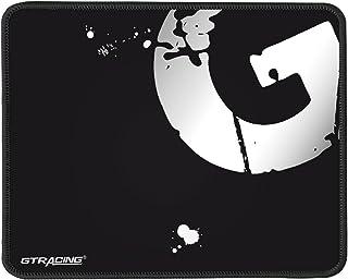 Gtracing ゲーミングマウスパッド マウスパッド ゲーミング 標準サイズ ゲーム用 かっこいい シンプル 白 クロスデザイン 滑り防止 高耐久性 ズレない ブラック GT875-BLACK